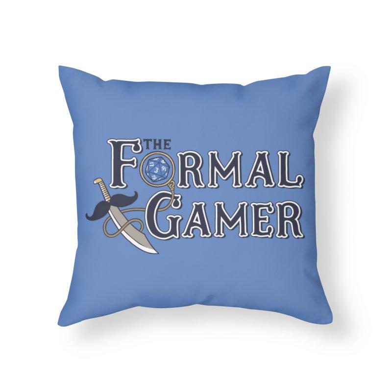 Formal Gamer Logo Home Throw Pillow by The Formal Gamer