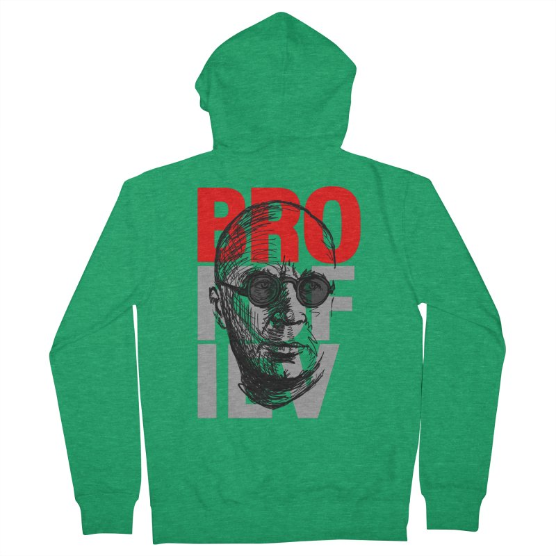 Brokofiev in Red and Gray Women's Zip-Up Hoody by Fortissimo6's Shop