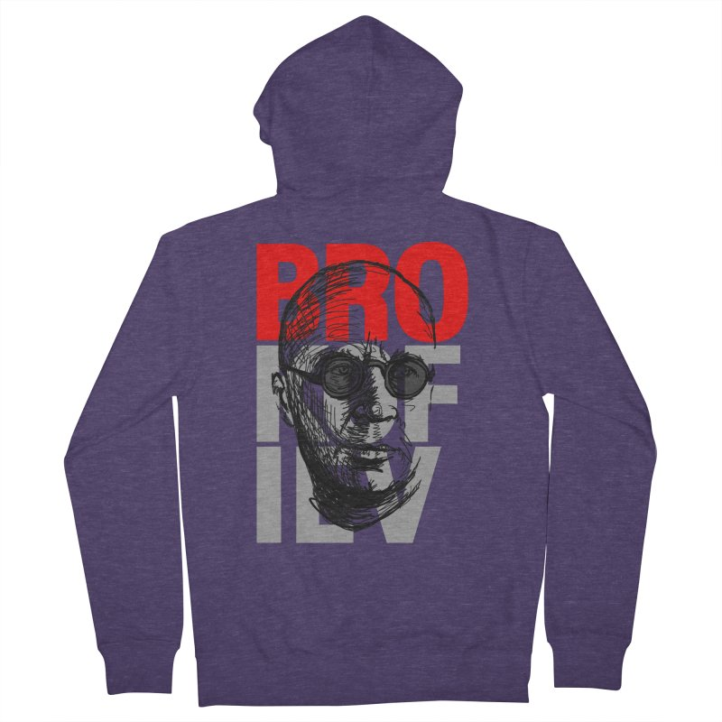 Brokofiev in Red and Gray Men's Zip-Up Hoody by Fortissimo6's Shop
