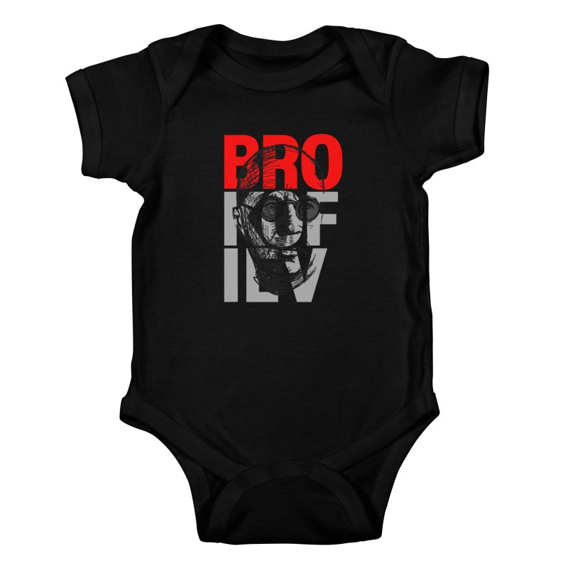 Brokofiev in Red and Gray Kids Baby Bodysuit by Fortissimo6's Shop