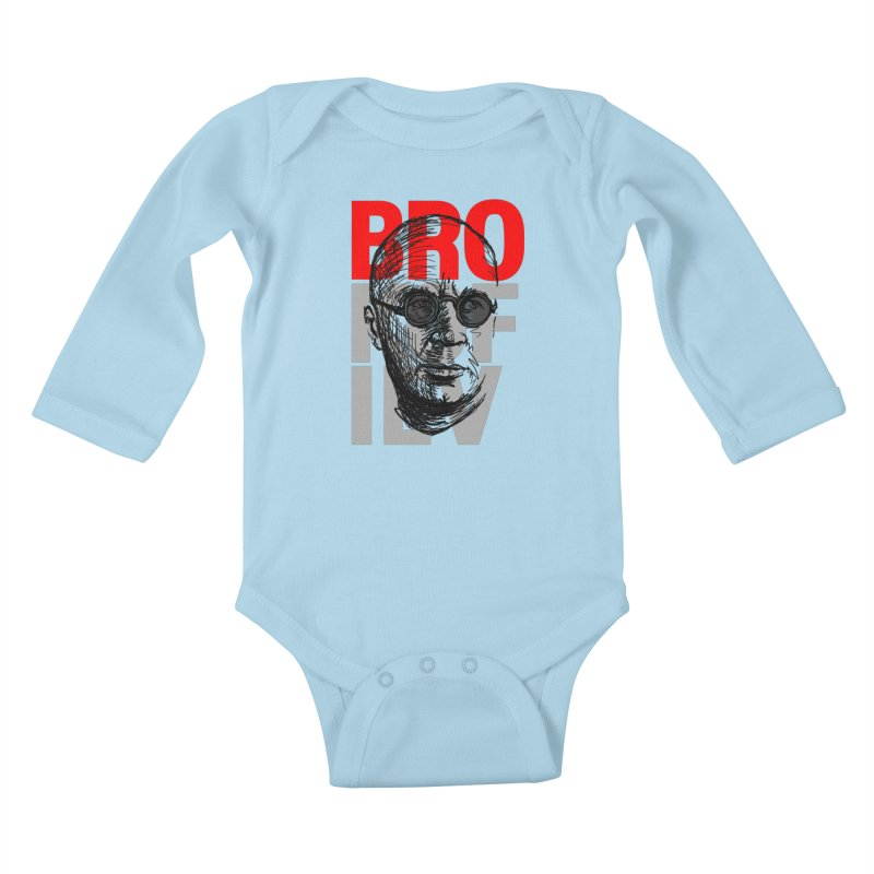 Brokofiev in Red and Gray Kids Baby Longsleeve Bodysuit by Fortissimo6's Shop