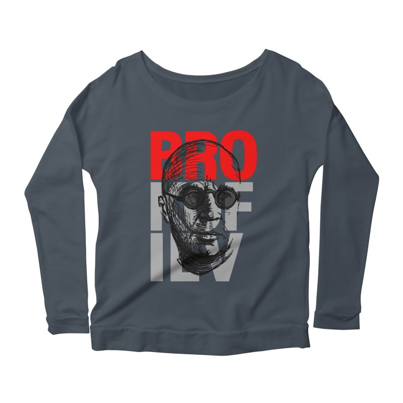 Brokofiev in Red and Gray Women's Longsleeve Scoopneck  by Fortissimo6's Shop