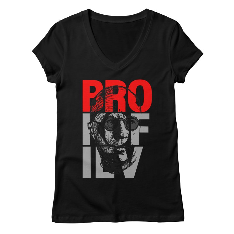 Brokofiev in Red and Gray Women's V-Neck by Fortissimo6's Shop