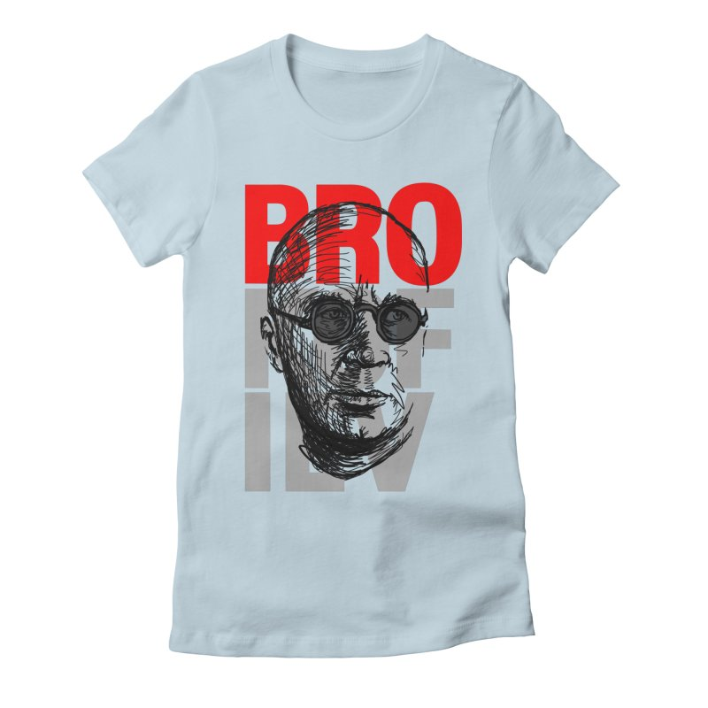 Brokofiev in Red and Gray Women's Fitted T-Shirt by Fortissimo6's Shop