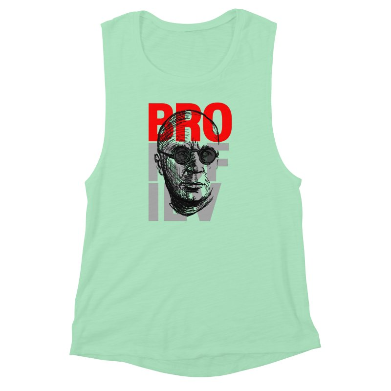 Brokofiev in Red and Gray Women's Muscle Tank by Fortissimo6's Shop