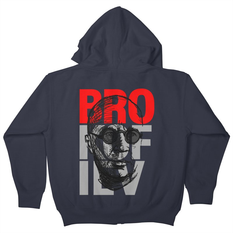 Brokofiev in Red and Gray Kids Zip-Up Hoody by Fortissimo6's Shop