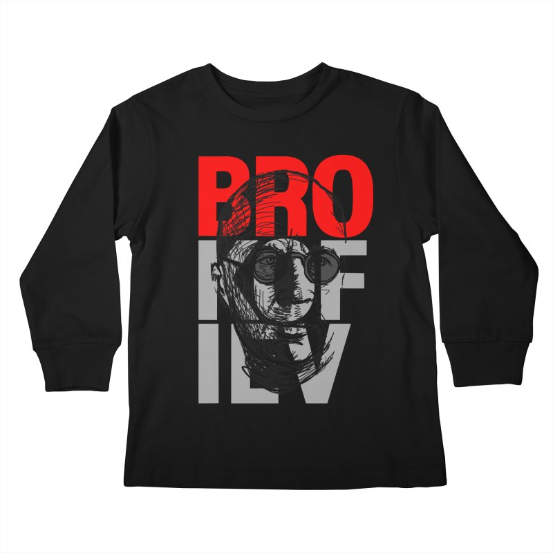 Brokofiev in Red and Gray Kids Longsleeve T-Shirt by Fortissimo6's Shop