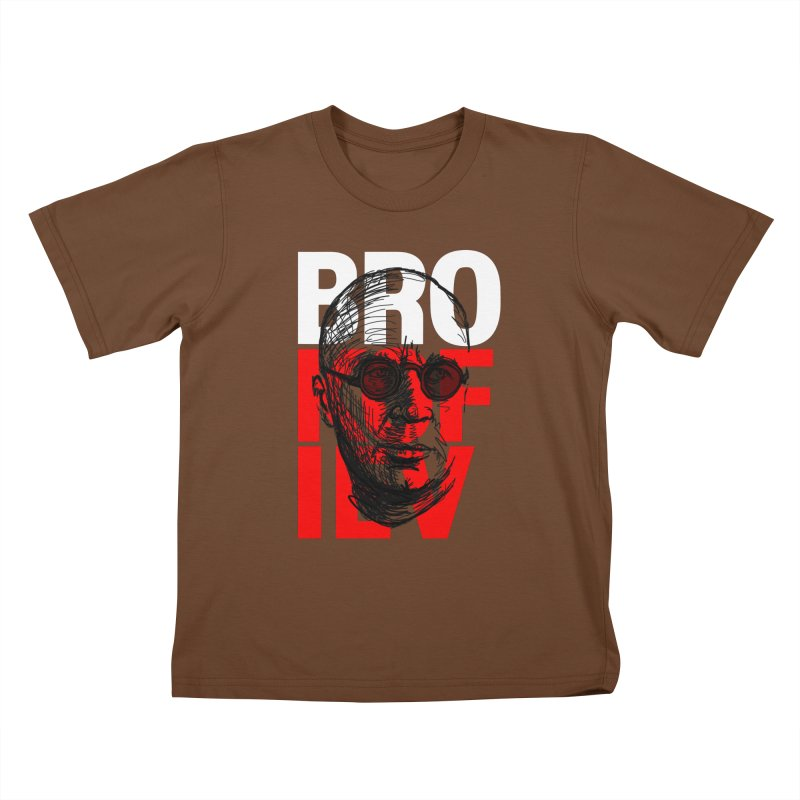 Brokofiev in white and red Kids T-Shirt by Fortissimo6's Shop