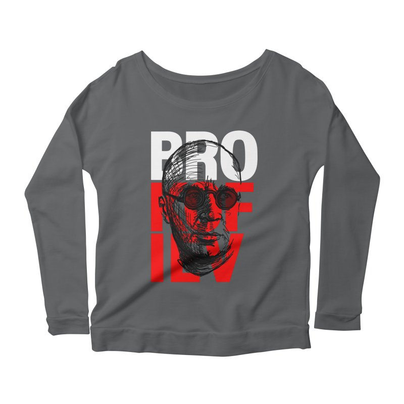 Brokofiev in white and red Women's Longsleeve Scoopneck  by Fortissimo6's Shop
