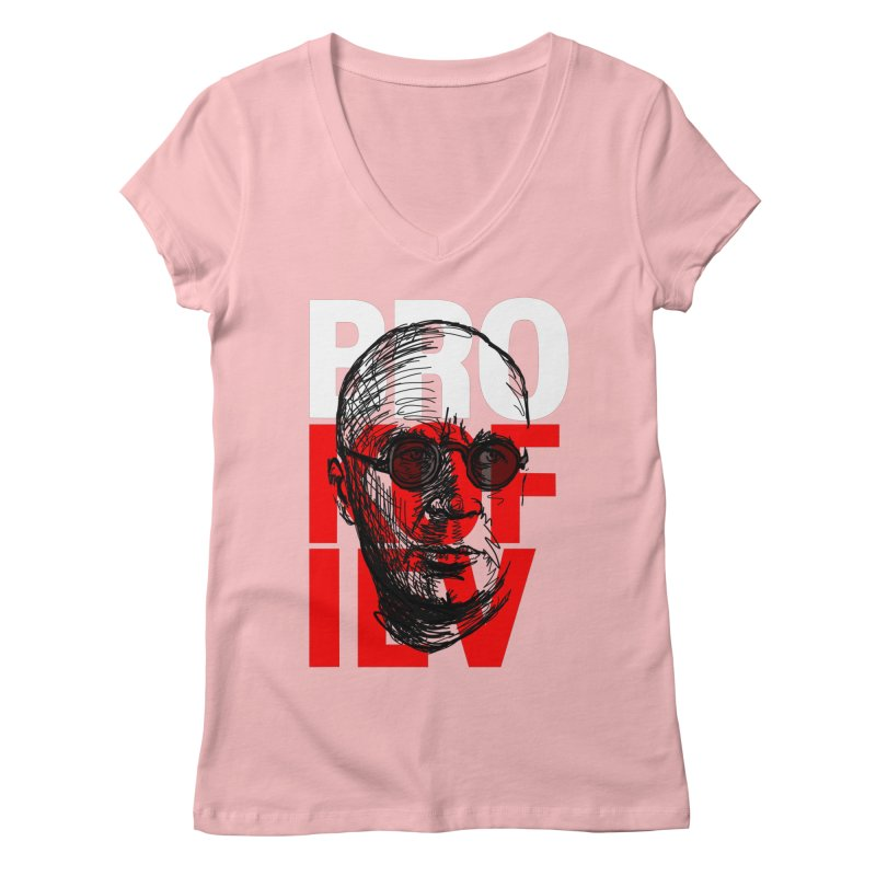 Brokofiev in white and red Women's V-Neck by Fortissimo6's Shop
