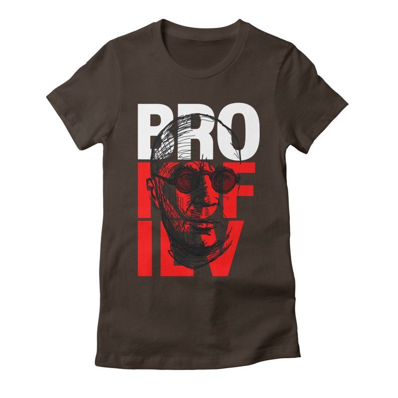 Brokofiev in white and red Women's Fitted T-Shirt by Fortissimo6's Shop