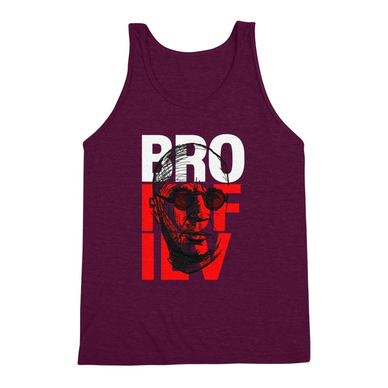 Brokofiev in white and red Men's Triblend Tank by Fortissimo6's Shop