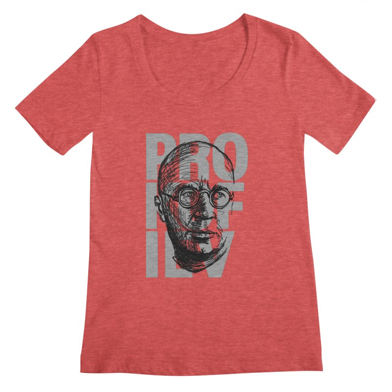 Prokofiev for dark shirts Women's Scoopneck by Fortissimo6's Shop