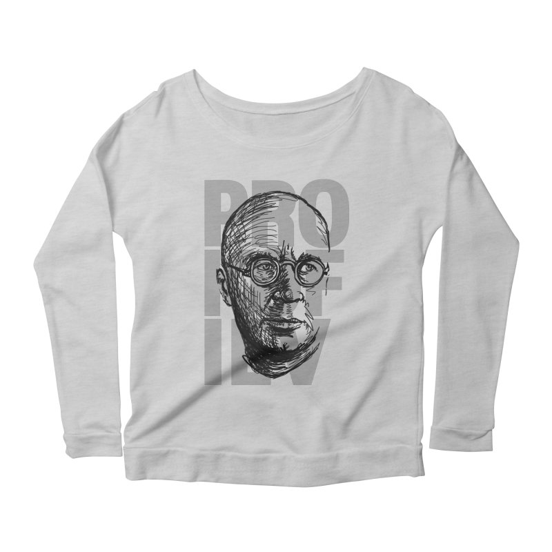 Prokofiev for dark shirts Women's Longsleeve Scoopneck  by Fortissimo6's Shop
