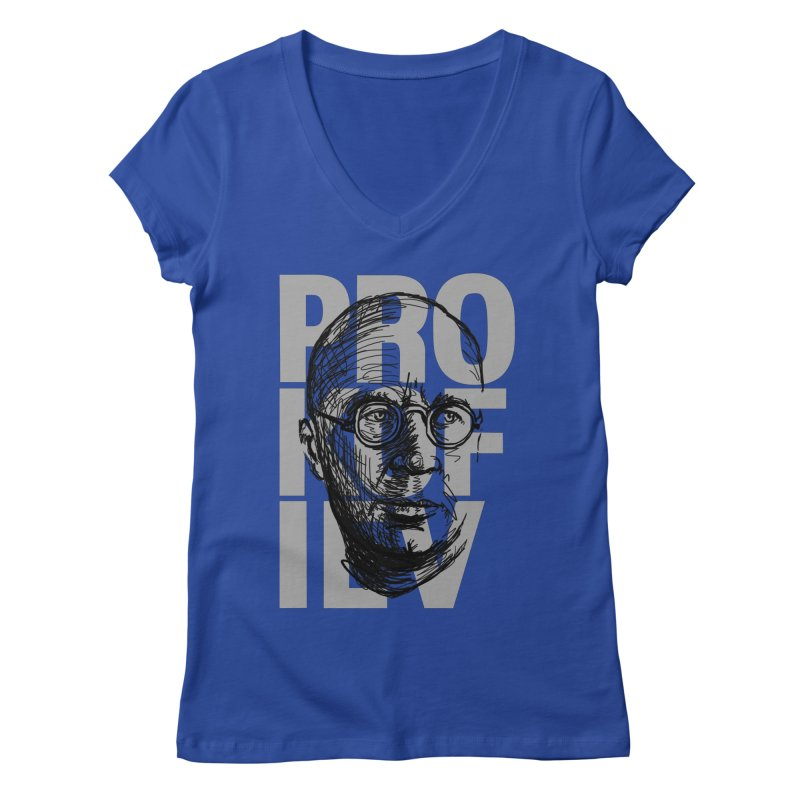 Prokofiev for dark shirts Women's V-Neck by Fortissimo6's Shop