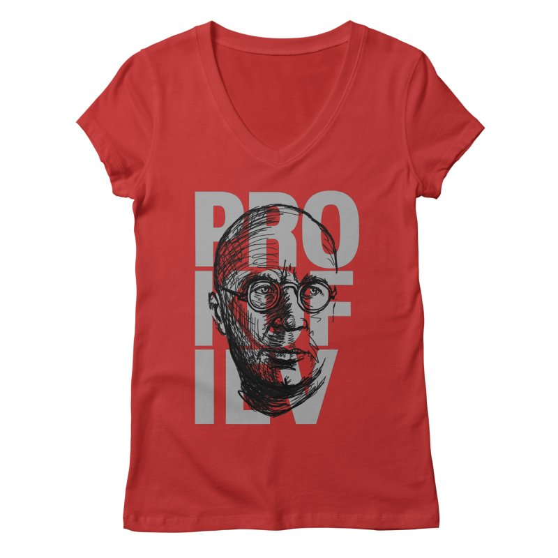 Prokofiev for dark shirts Women's V-Neck by Fortissimo6's Shop