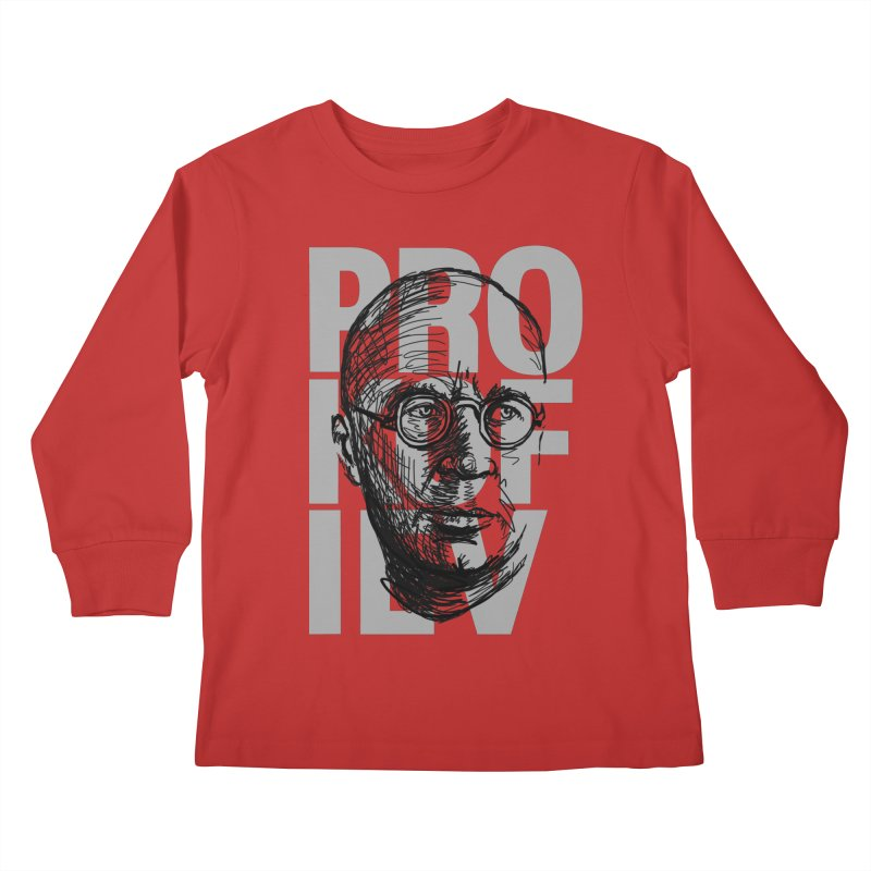Prokofiev for dark shirts Kids Longsleeve T-Shirt by Fortissimo6's Shop