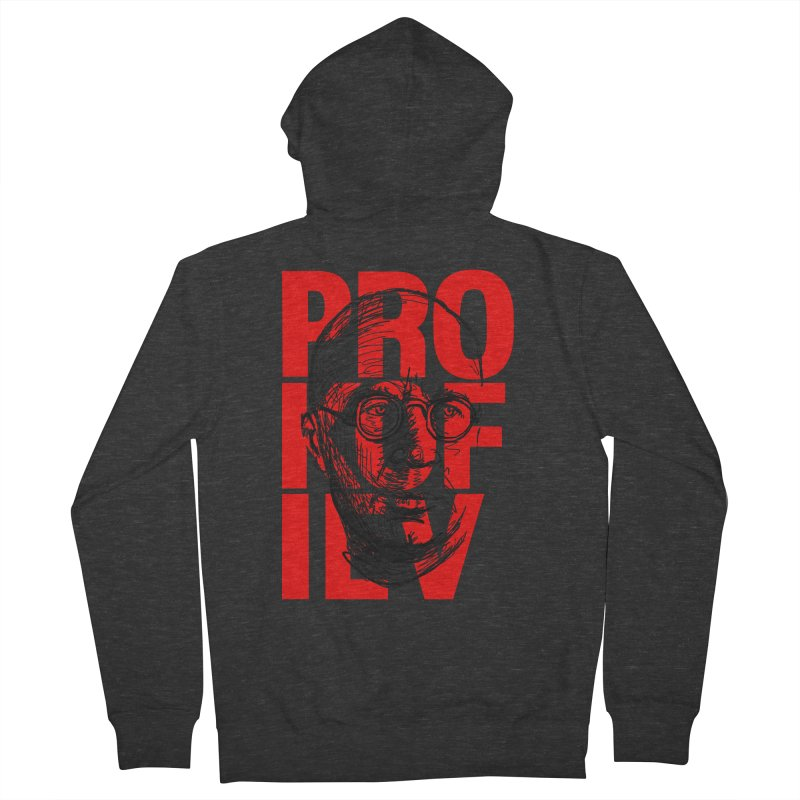 Prokofiev in red and black Women's Zip-Up Hoody by Fortissimo6's Shop