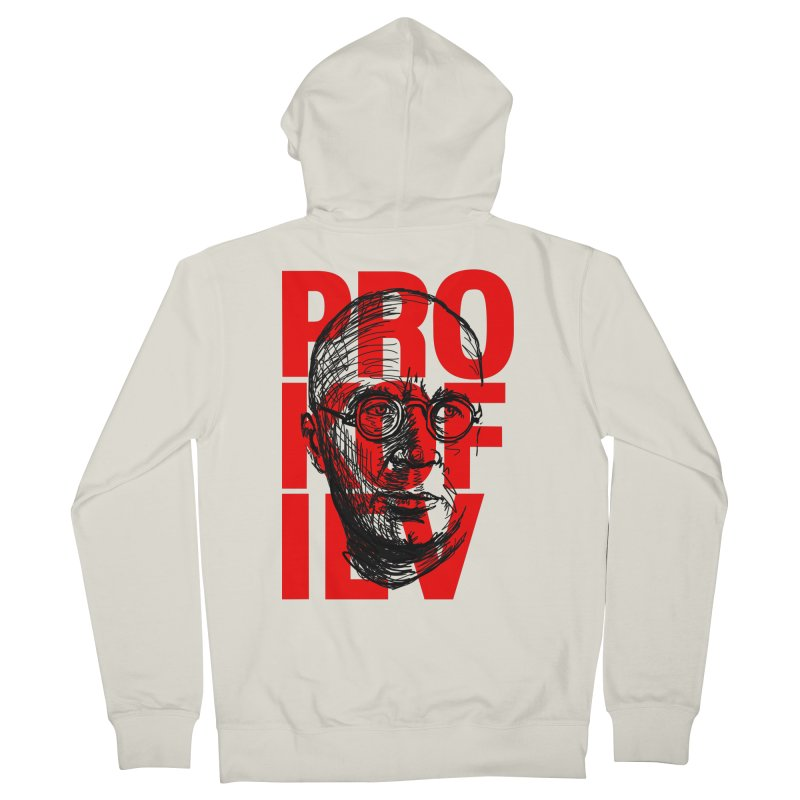 Prokofiev in red and black Men's Zip-Up Hoody by Fortissimo6's Shop