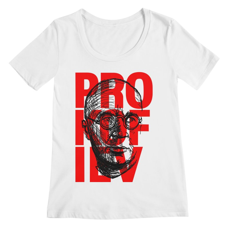 Prokofiev in red and black Women's Scoopneck by Fortissimo6's Shop