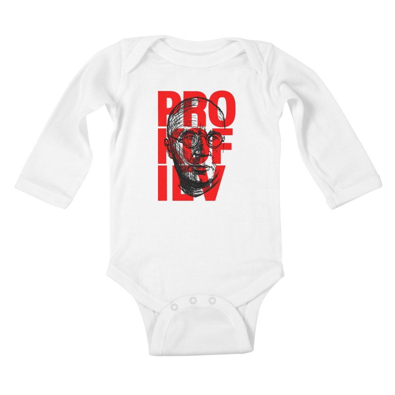 Prokofiev in red and black Kids Baby Longsleeve Bodysuit by Fortissimo6's Shop