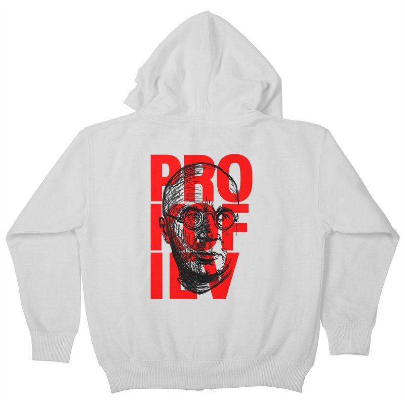 Prokofiev in red and black Kids Zip-Up Hoody by Fortissimo6's Shop