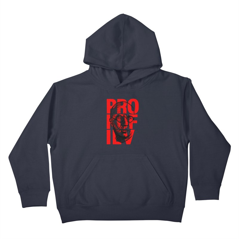 Prokofiev in red and black Kids Pullover Hoody by Fortissimo6's Shop