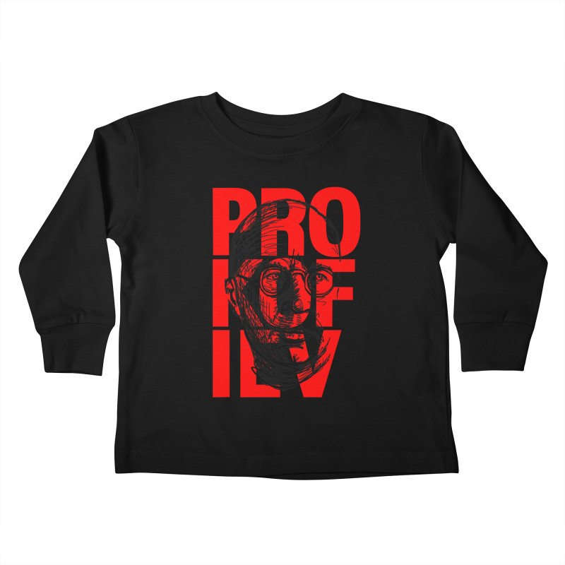 Prokofiev in red and black Kids Toddler Longsleeve T-Shirt by Fortissimo6's Shop