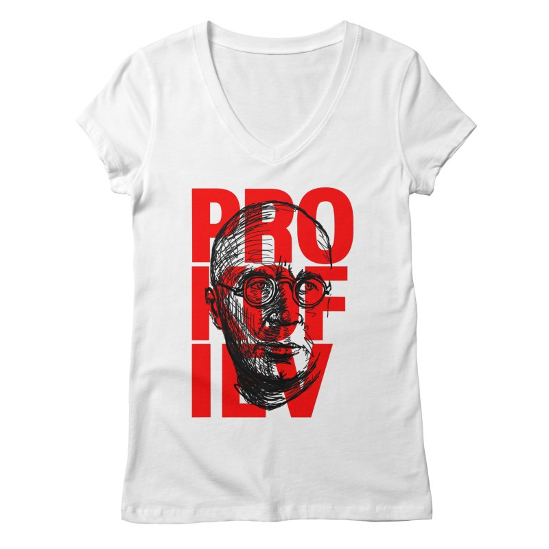 Prokofiev in red and black Women's V-Neck by Fortissimo6's Shop
