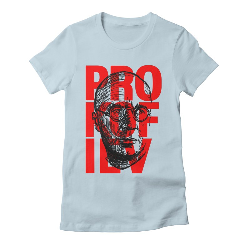 Prokofiev in red and black Women's Fitted T-Shirt by Fortissimo6's Shop