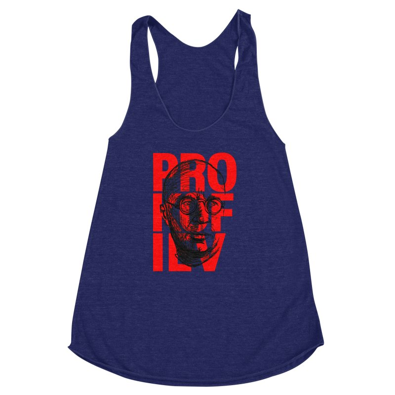 Prokofiev in red and black Women's Racerback Triblend Tank by Fortissimo6's Shop