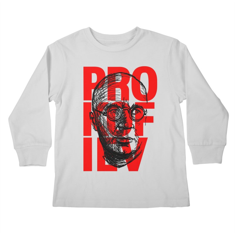 Prokofiev in red and black Kids Longsleeve T-Shirt by Fortissimo6's Shop
