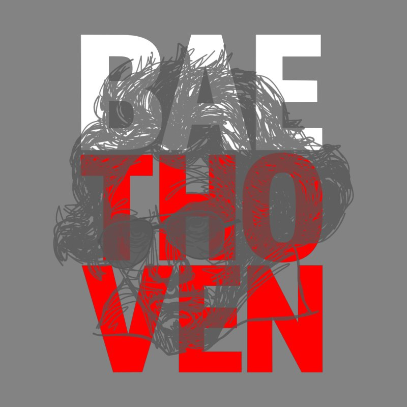 Baethoven in Red White and Gray Kids T-Shirt by Fortissimo6's Shop