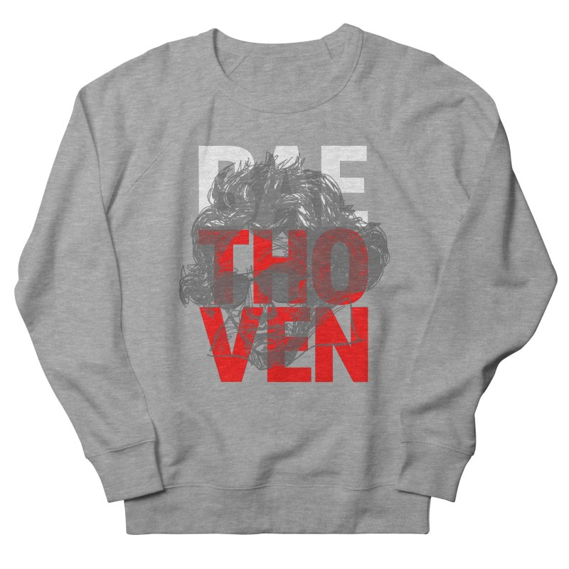 Baethoven in Red White and Gray Men's Sweatshirt by Fortissimo6's Shop