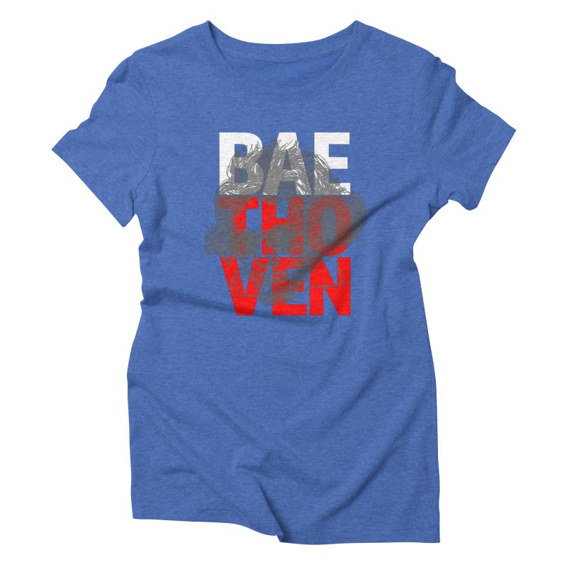 Baethoven in Red White and Gray Women's Triblend T-Shirt by Fortissimo6's Shop