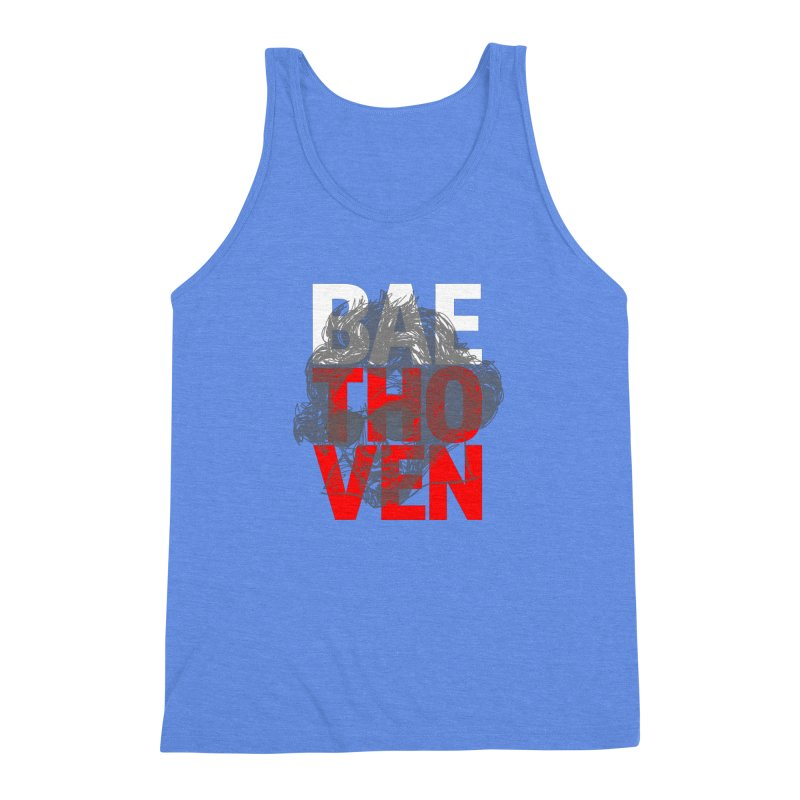 Baethoven in Red White and Gray Men's Triblend Tank by Fortissimo6's Shop