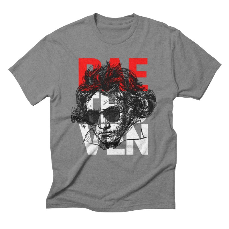 Baethoven in red white and black Men's Triblend T-Shirt by Fortissimo6's Shop