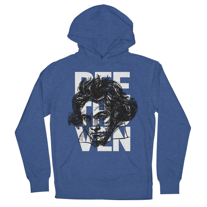 Beethoven in black and white Men's Pullover Hoody by Fortissimo6's Shop