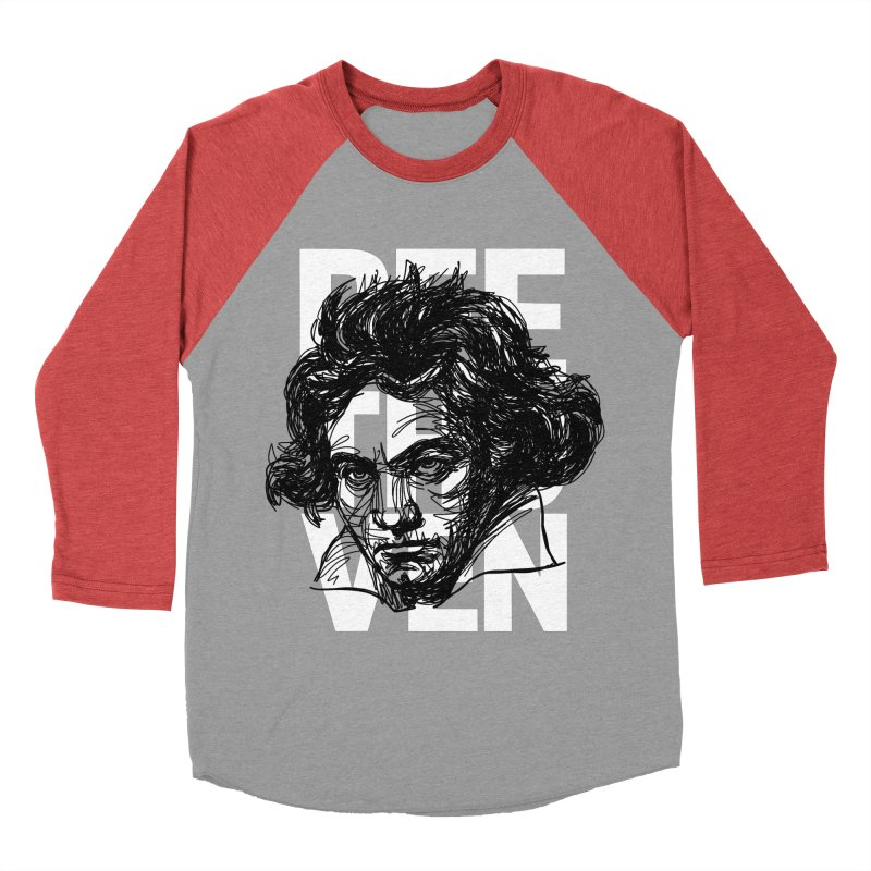 Beethoven in black and white Women's Baseball Triblend T-Shirt by Fortissimo6's Shop