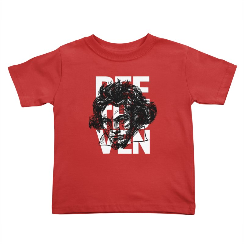 Beethoven in black and white Kids Toddler T-Shirt by Fortissimo6's Shop