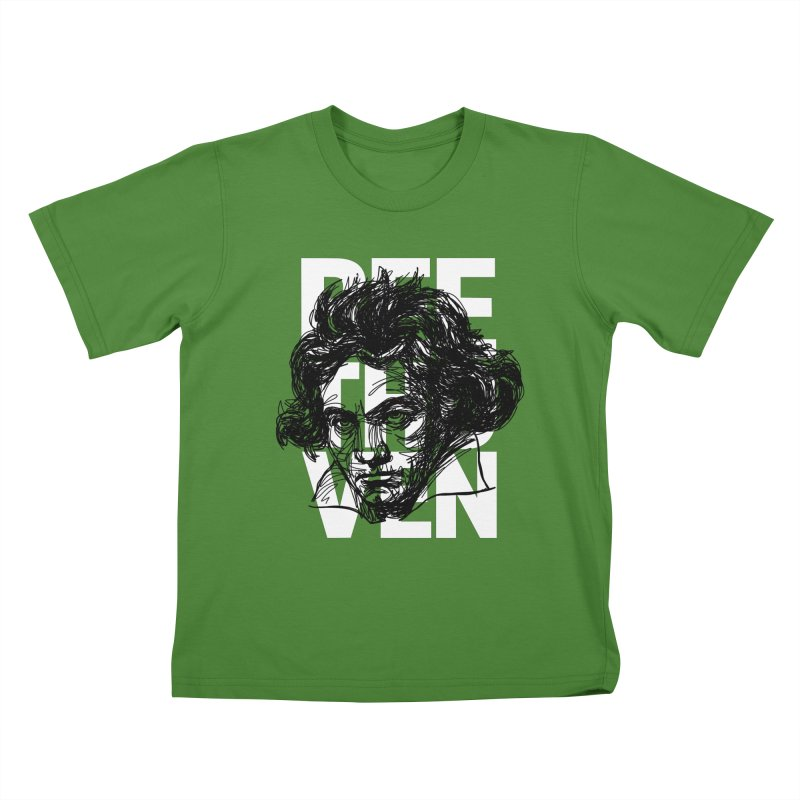 Beethoven in black and white Kids T-Shirt by Fortissimo6's Shop