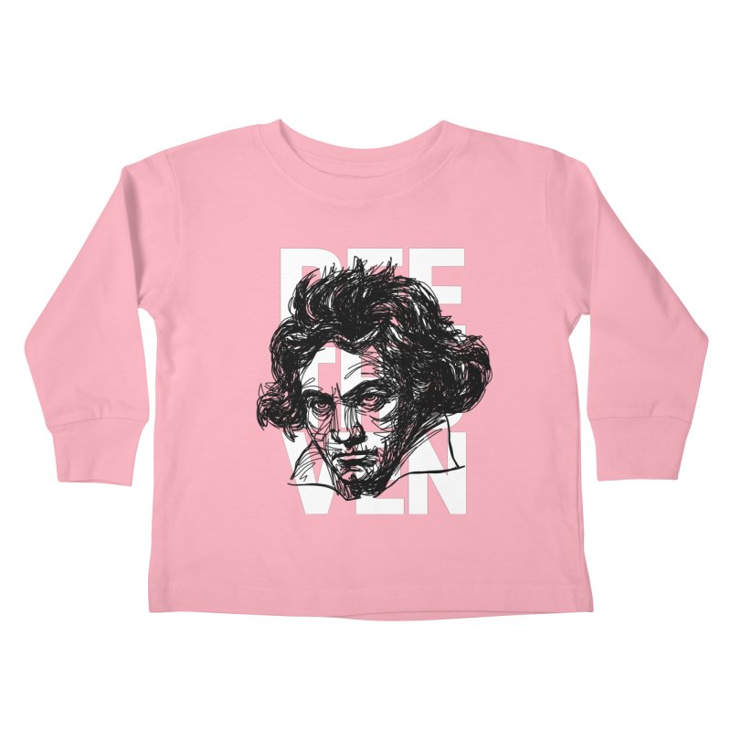 Beethoven in black and white Kids Toddler Longsleeve T-Shirt by Fortissimo6's Shop