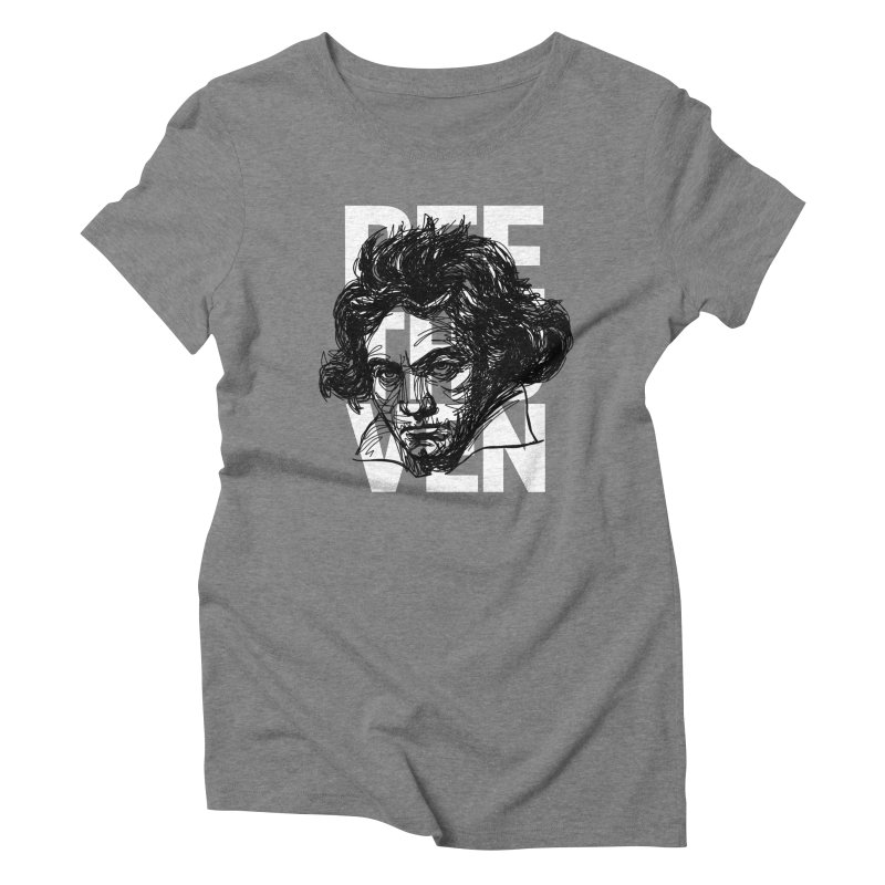 Beethoven in black and white Women's Triblend T-shirt by Fortissimo6's Shop