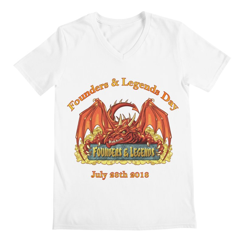 Founders & Legends Dragon Men's V-Neck by Founders and Legends Merchandise Shop