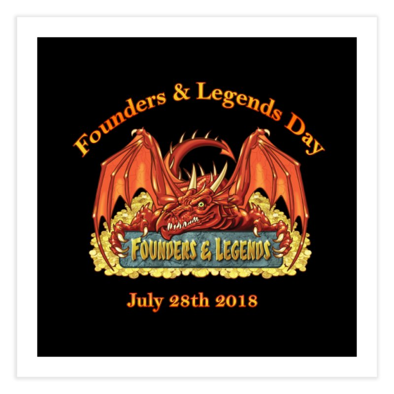 Founders & Legends Dragon Home Fine Art Print by Founders and Legends Merchandise Shop
