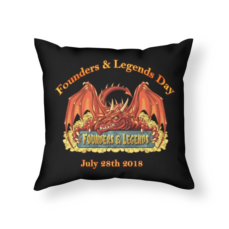 Founders & Legends Dragon Home Throw Pillow by Founders and Legends Merchandise Shop
