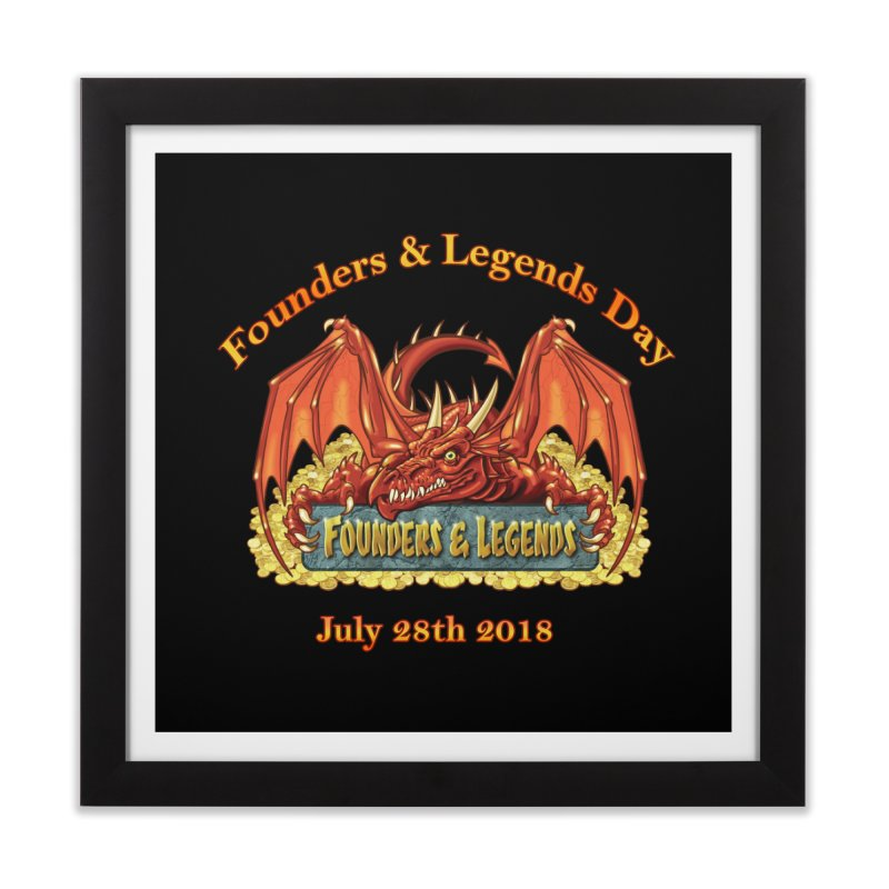 Founders & Legends Dragon Home Framed Fine Art Print by Founders and Legends Merchandise Shop