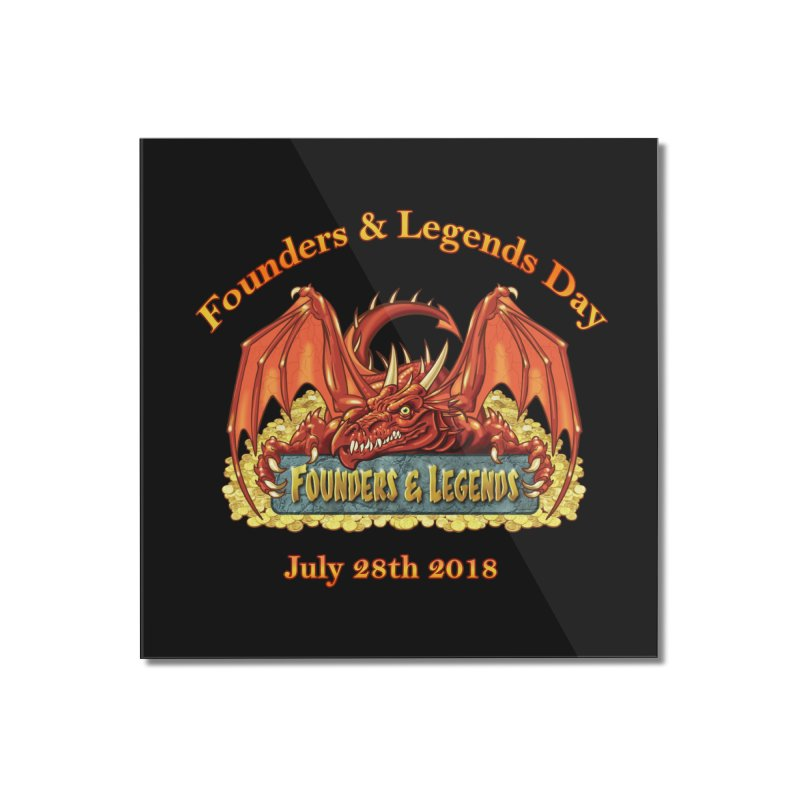 Founders & Legends Dragon Home Mounted Acrylic Print by Founders and Legends Merchandise Shop