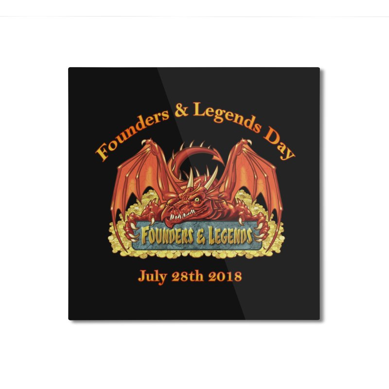 Founders & Legends Dragon Home Mounted Aluminum Print by Founders and Legends Merchandise Shop