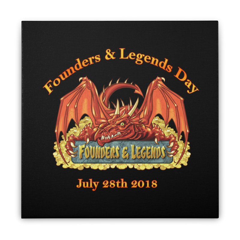 Founders & Legends Dragon Home Stretched Canvas by Founders and Legends Merchandise Shop